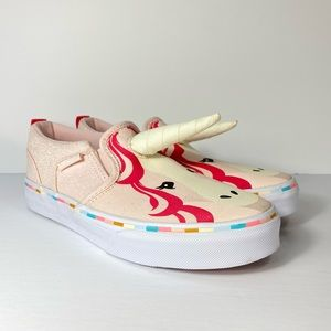 Vans Asher Unicorn Slip-On Canvas Pink Sneakers